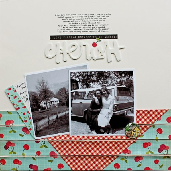 Scrapbook Ideas for Bringing Contrasting Styles Together On Your Page | Shanna Hystad | Get It Scrapped