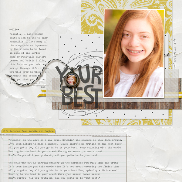 Scrapbook Ideas for Creating Tension with Type | Kelly Prang | Get It Scrapped