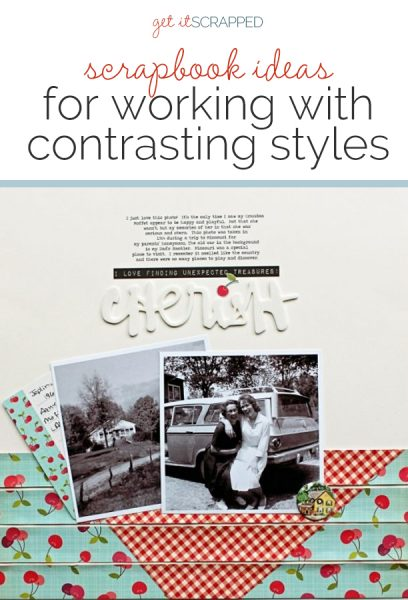 Scrapbook Ideas for Bringing Contrasting Styles Together On Your Page | Get It Scrapped