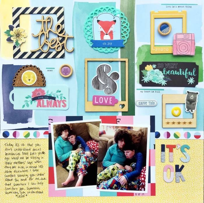 Scrapbook Page Design Inspired by Learning Spaces
