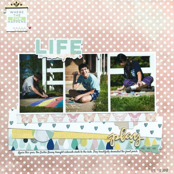 Scrapbook Pages Inspired by Learning Spaces | Kelly Sroka | Get It Scrapped