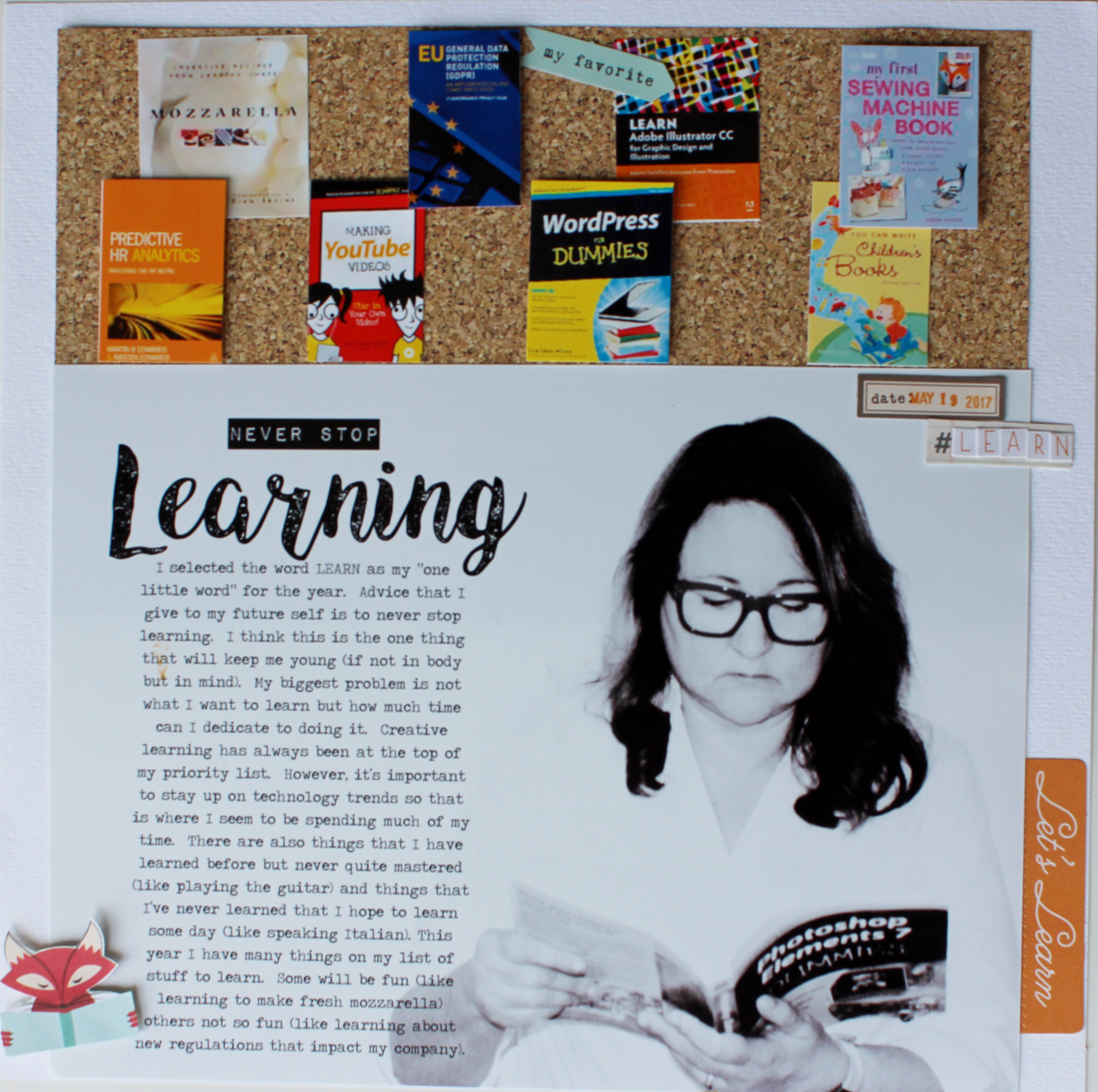 Ideas for Passing Along Wisdom via the Scrapbook Page  | Page Guide No. 19