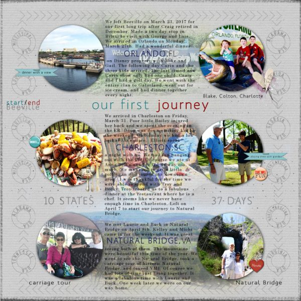 Scrapbook Page Designs That Can Capture Your Trip's Itinerary | Terry Billman | Get It Scrapped