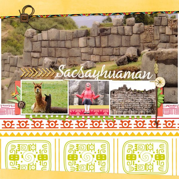 Scrapbook Ideas for Using Bold Tribal Patterns on Your Pages | Deborah Wagner | Get It Scrapped