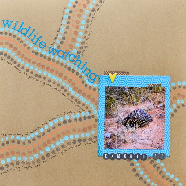 Scrapbook Ideas for Using Bold Tribal Patterns on Your Pages | Kristy T. | Get It Scrapped