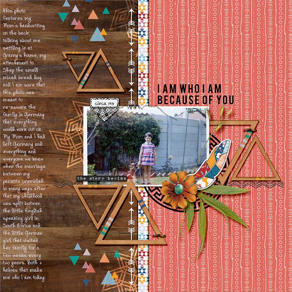 Scrapbook Ideas for Using Bold Tribal Patterns on Your Pages | Stefanie Semple | Get It Scrapped
