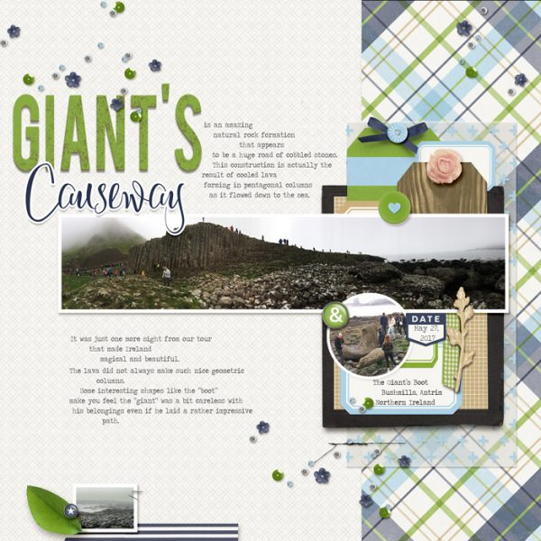 Scrapbook Ideas for Making a Visual Triangle on the Page | Karen Poirier-Brode | Get It Scrapped