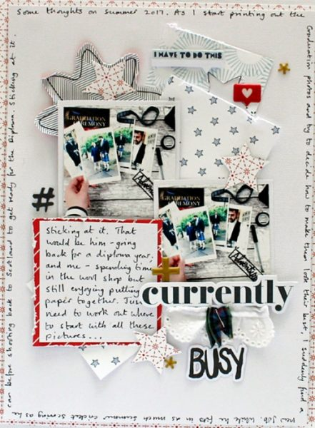Scrapbook Ideas for Making a Visual Triangle on the Page | Sian Fair | Get It Scrapped