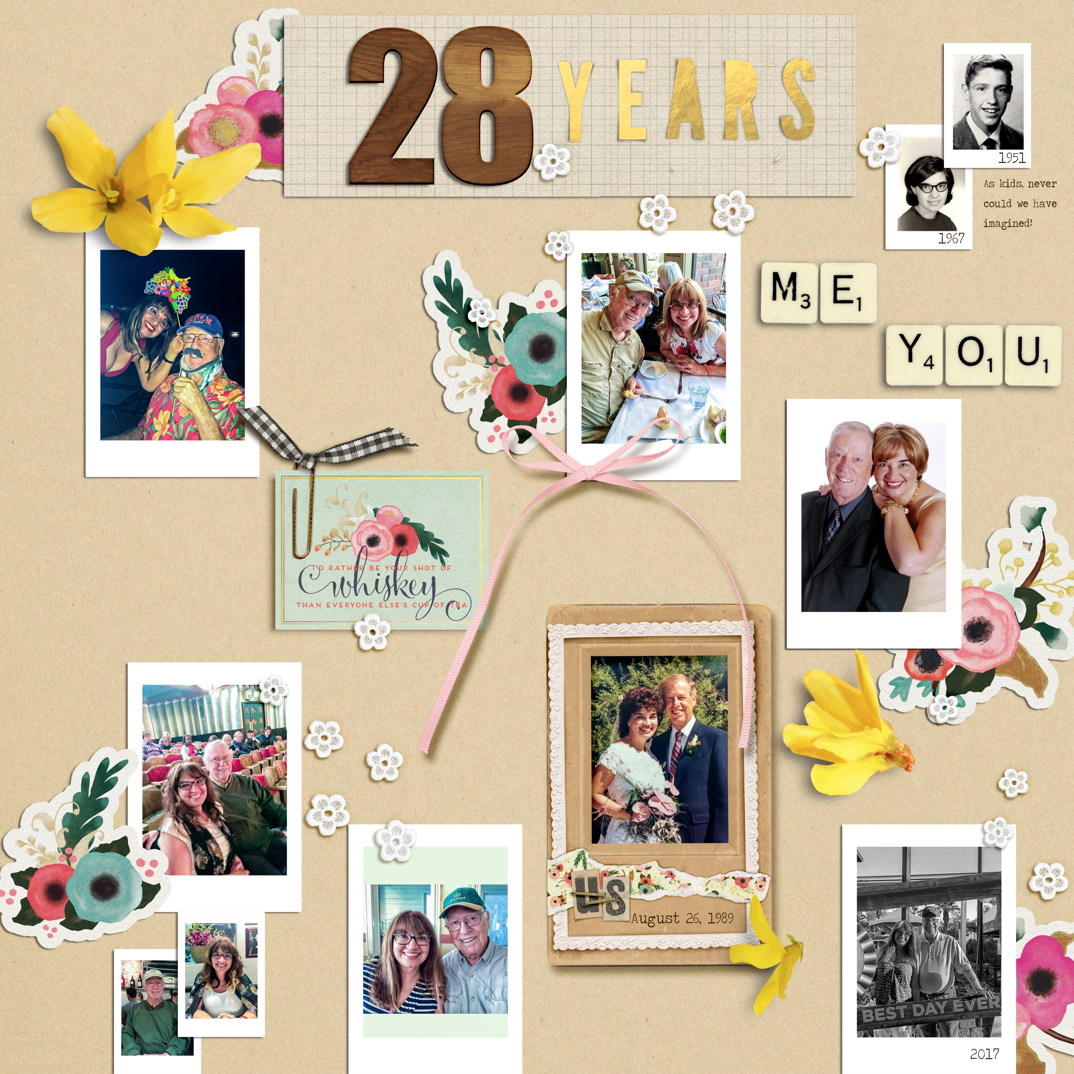 Scrapbook Ideas Inspired by Flatlay Photography