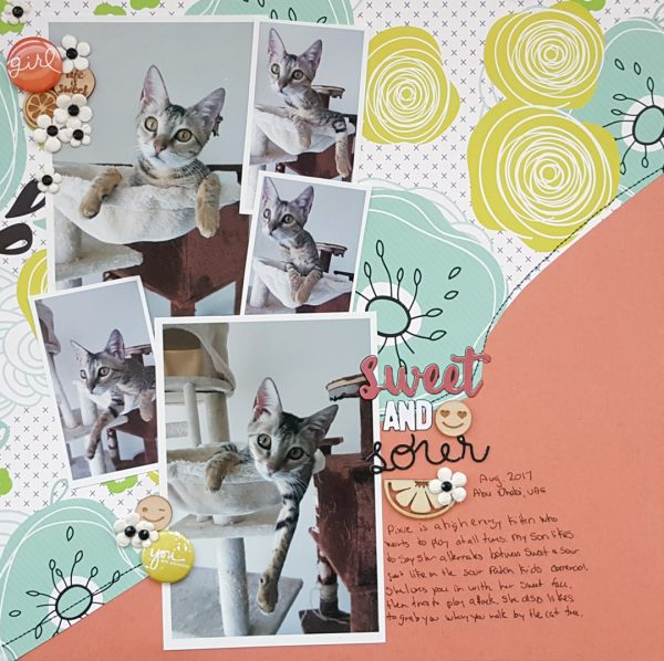 Scrapbook Page Challenge: Use color, image, pattern, and type to reveal character | Christy Strickler | Get It Scrapped