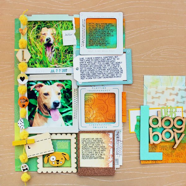 Scrapbook Page Challenge: Use color, image, pattern, and type to reveal character | Jill Sprott | Get It Scrapped