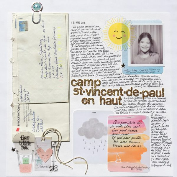 Scrapbook Ideas for Using Interactive Elements on the Page | Marie-Pierre Capistran | Get It Scrapped