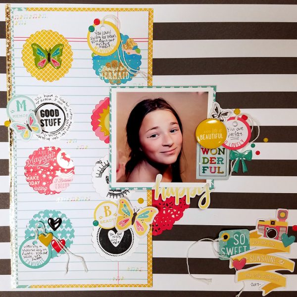 Scrapbook Page Challenge: Use color, image, pattern, and type to reveal character | Nicole Mackin | Get It Scrapped