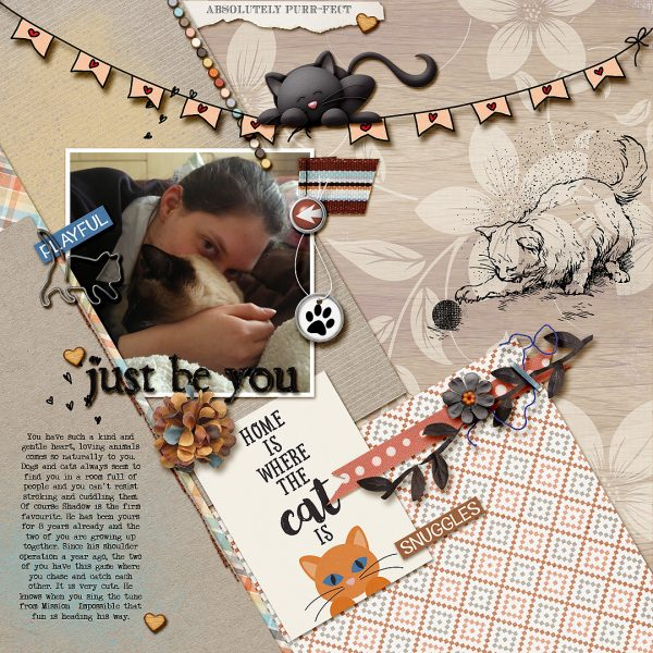 Scrapbook Page Challenge: Use color, image, pattern, and type to reveal character | Stefanie Semple | Get It Scrapped