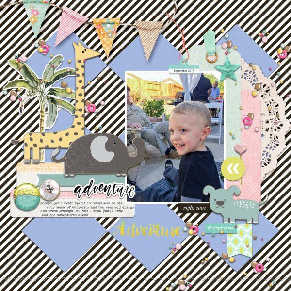 Scrapbook Page Colors: Black + White w/ Pastels | Karen Poirier-Brode | Get It Scrapped