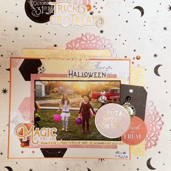 Scrapbook Page Colors: Black + White w/ Pastels | Nicole Mackin | Get It Scrapped