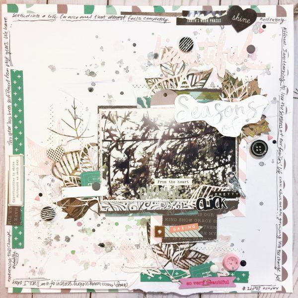Scrapbook Page Colors: Black + White w/ Pastels | Hannah Lemieux | Get It Scrapped