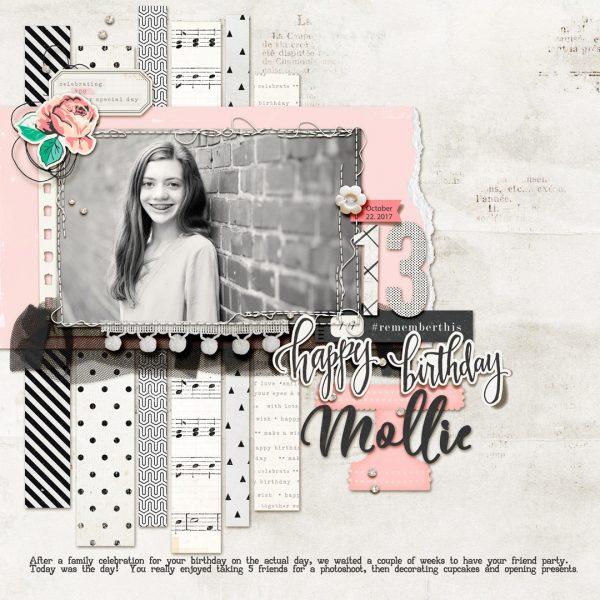 Scrapbook Page Colors: Black + White w/ Pastels | Kelly Prang | Get It Scrapped