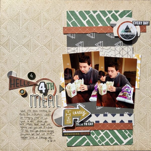 Scrapbook Ideas for Using Contrast to Create Flow on the Page | Devra Hunt | Get It Scrapped