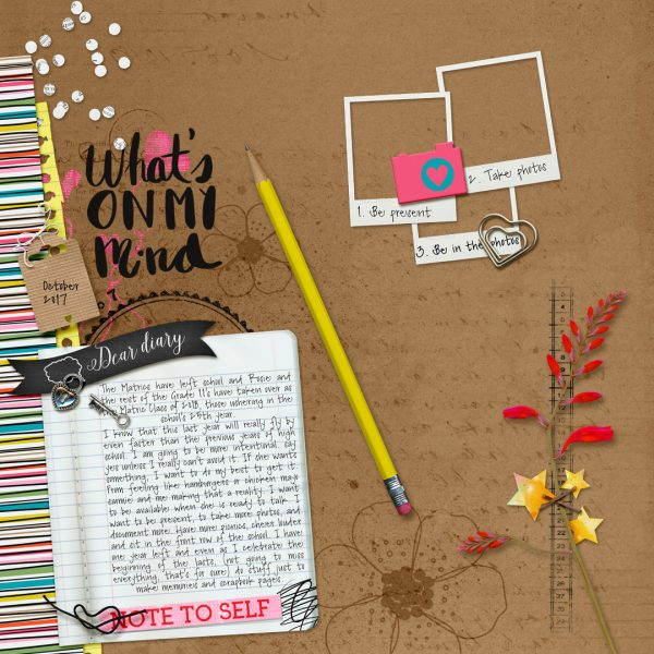 Scrapbook Ideas for Recording Your Intentions | Stefanie Semple | Get It Scrapped