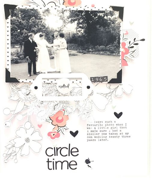 Scrapbook Page Colors: Black + White w/ Pastels | Sian Fair | Get It Scrapped