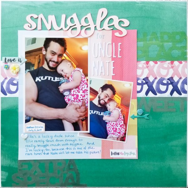 Scrapbook Ideas for Using Contrast to Create Flow on the Page | Marcia Fortunato | Get It Scrapped