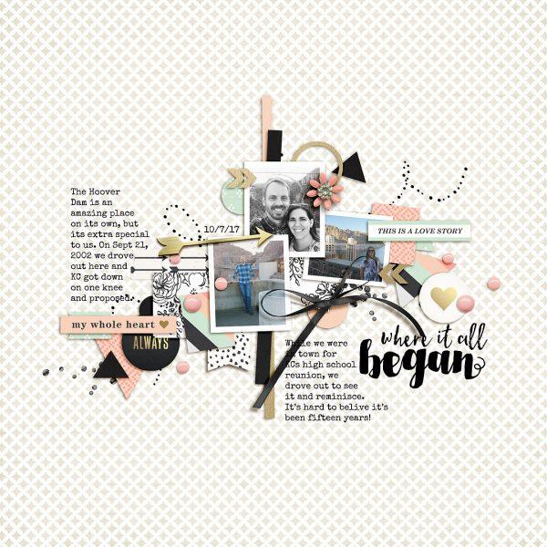 Scrapbook Page Colors: Black + White w/ Pastels | Lynnette Wilkins | Get It Scrapped