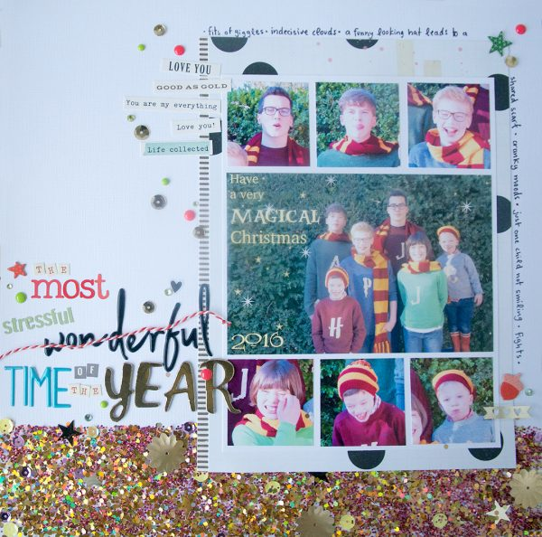 Scrapbook Page Techniques Inspired by Gift Wrapping | Cara Vincens | Get It Scrapped