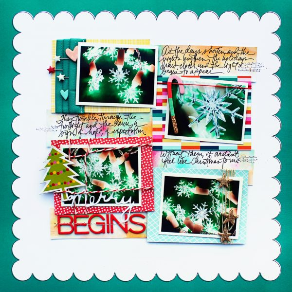 Scrapbook Page Techniques Inspired by Gift Wrapping | Jill Sprott | Get It Scrapped