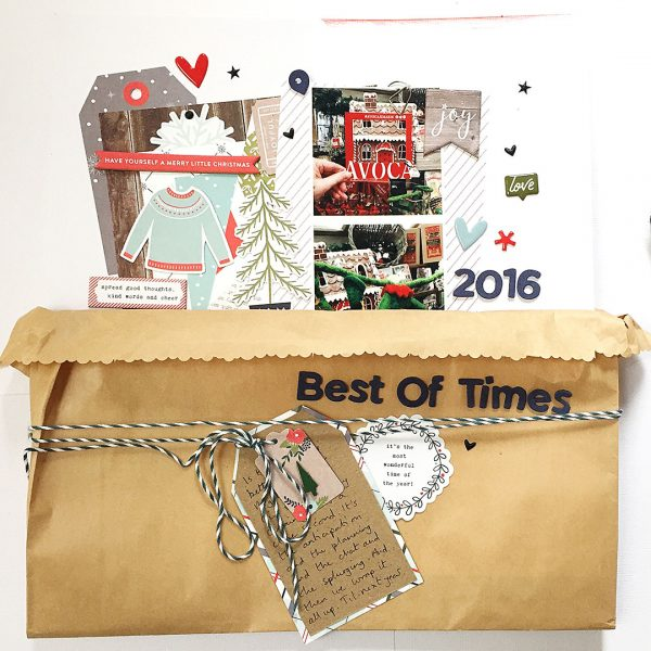Scrapbook Page Techniques Inspired by Gift Wrapping | Sian Fair | Get It Scrapped