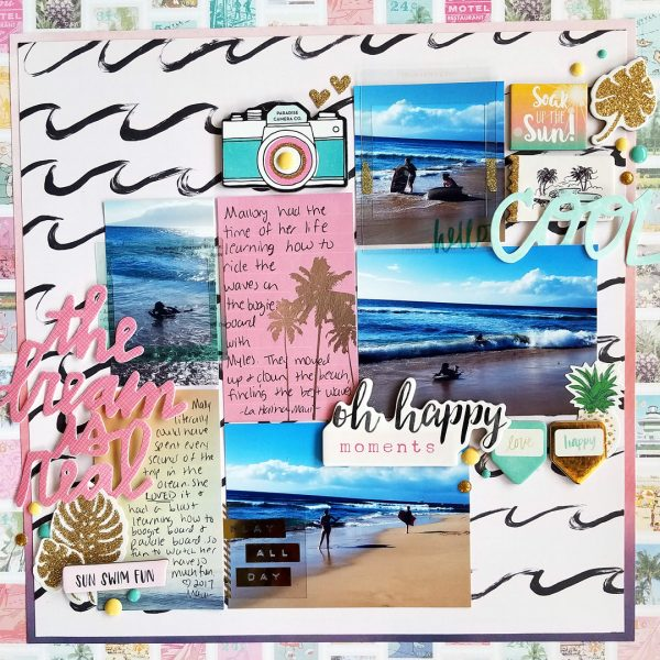 Translating Design Inspiration to the Scrapbook Page: Space | Nicole Mackin | Get It Scrapped