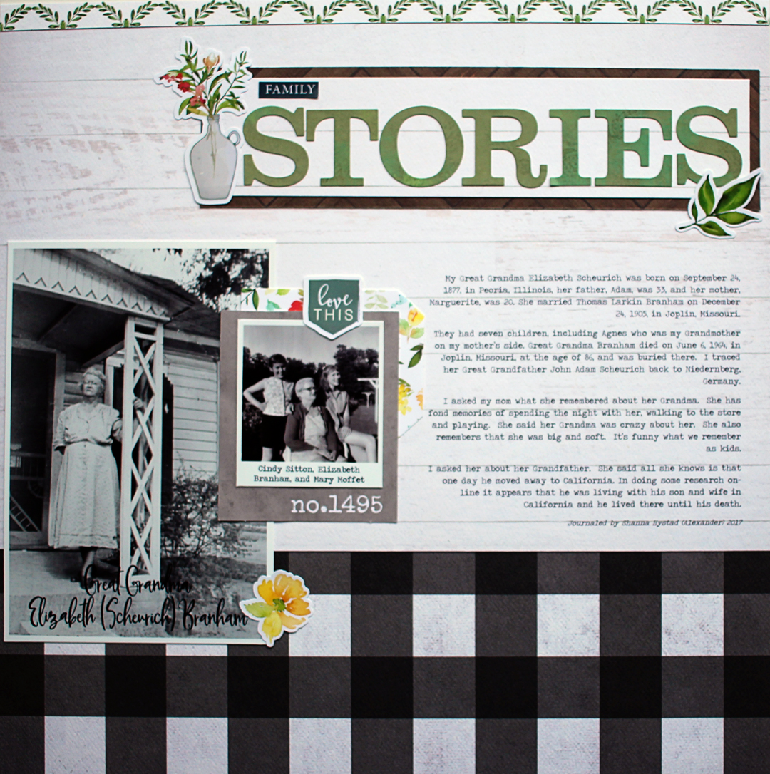 "Ideas for Scrapbook Page Storytelling with a ""Farm Fresh"" Style"