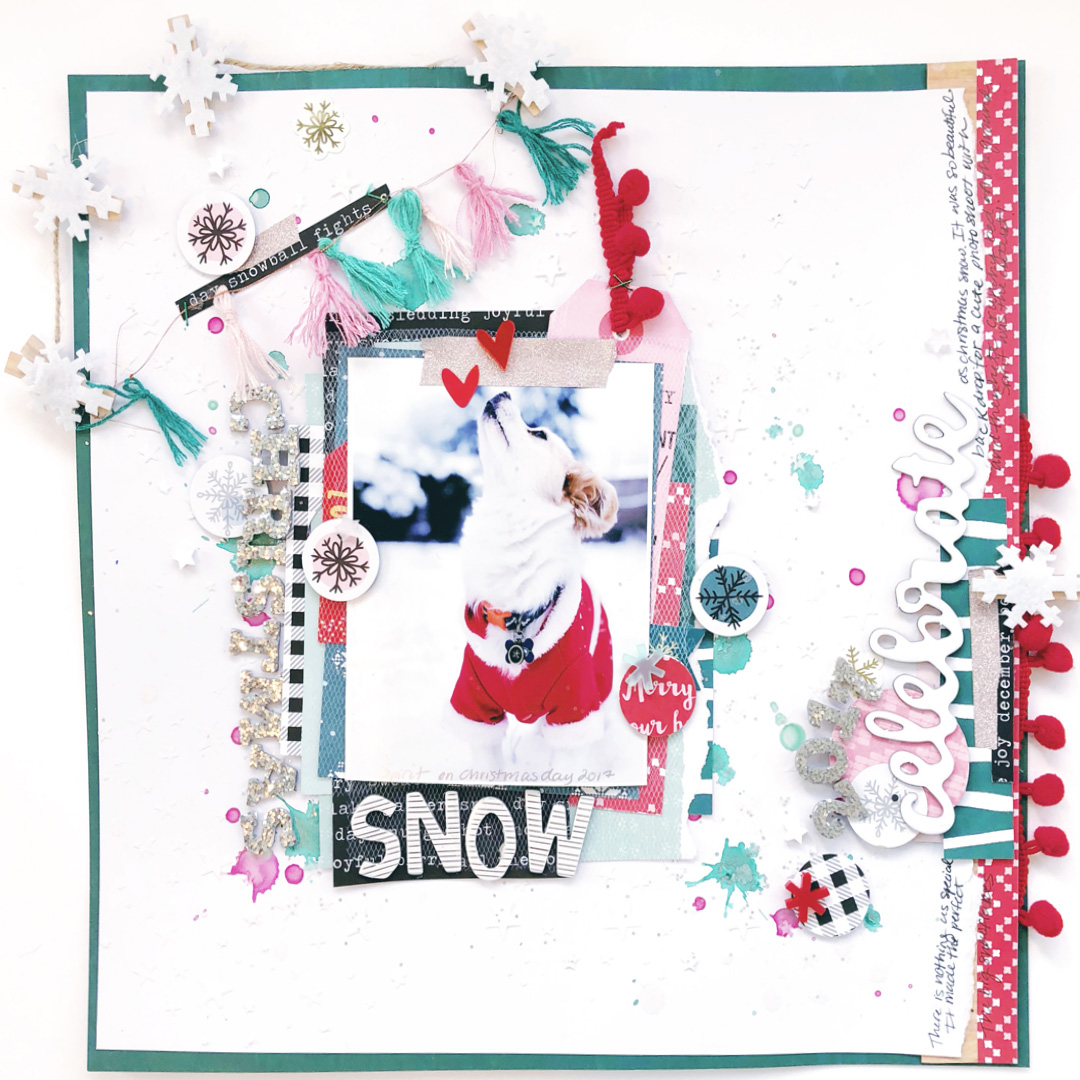 Add Pom Poms to Your Scrapbook Pages for Fun Texture + Dimension | Hannah Lemieux | Get It Scrapped