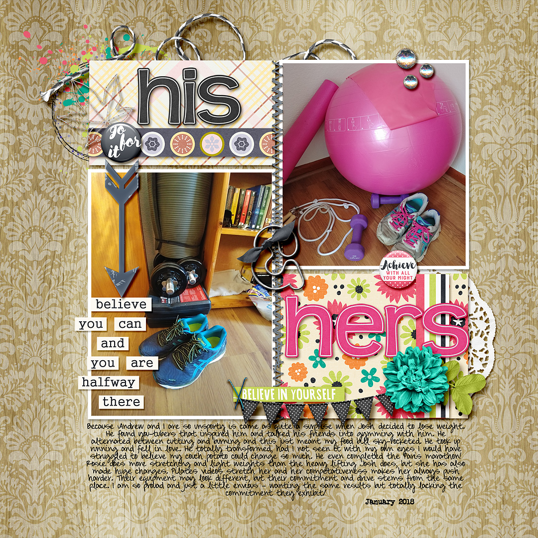 Scrapbook Page Starter: Arrange Your Page Elements Using a Two by Two Approach | Stefanie Semple | Get It Scrapped