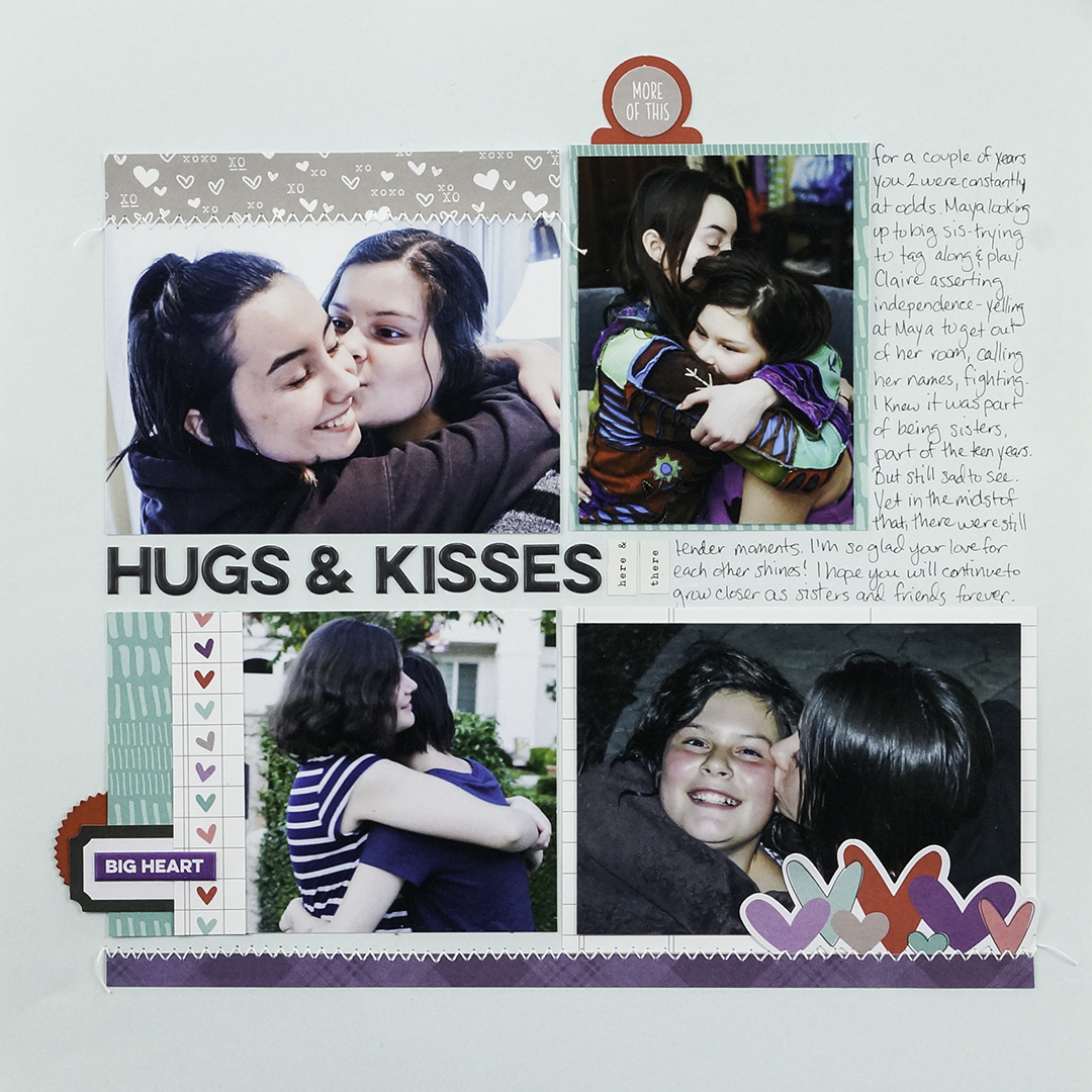 Scrapbook Page Starter: Arrange Your Page Elements Using a Two by Two Approach | Iris Fox | Get It Scrapped