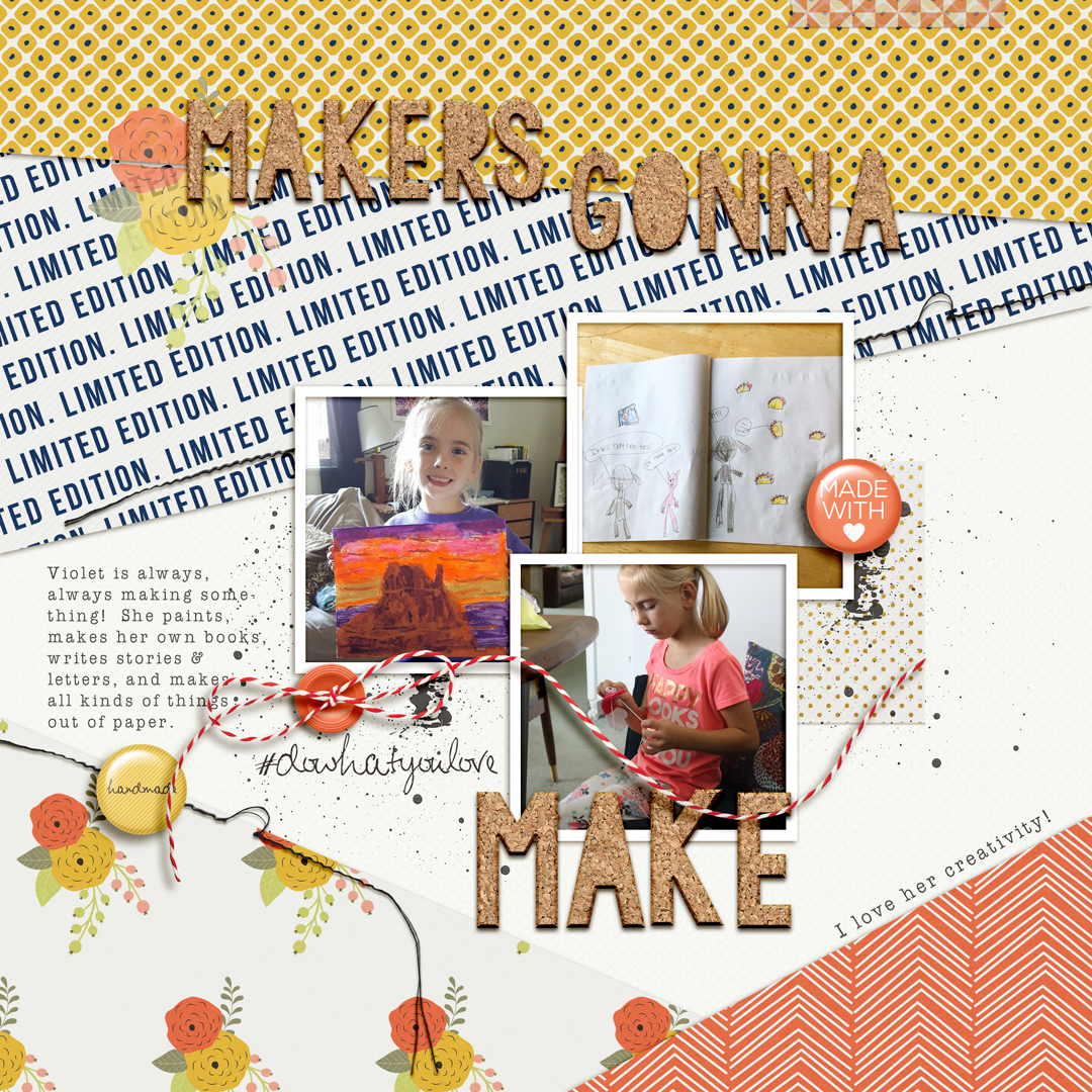Find and Use Design Inspiration for Working with Line on the Scrapbook Page | Lynnette Wilkins | Get It Scrapped