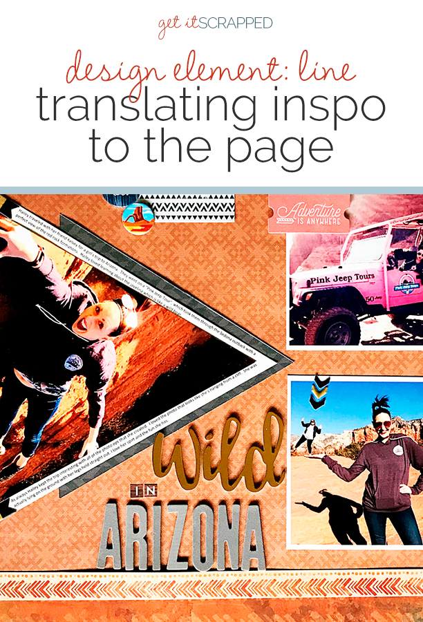 Find and Use Design Inspiration for Working with Line on the Scrapbook Page | Get It Scrapped