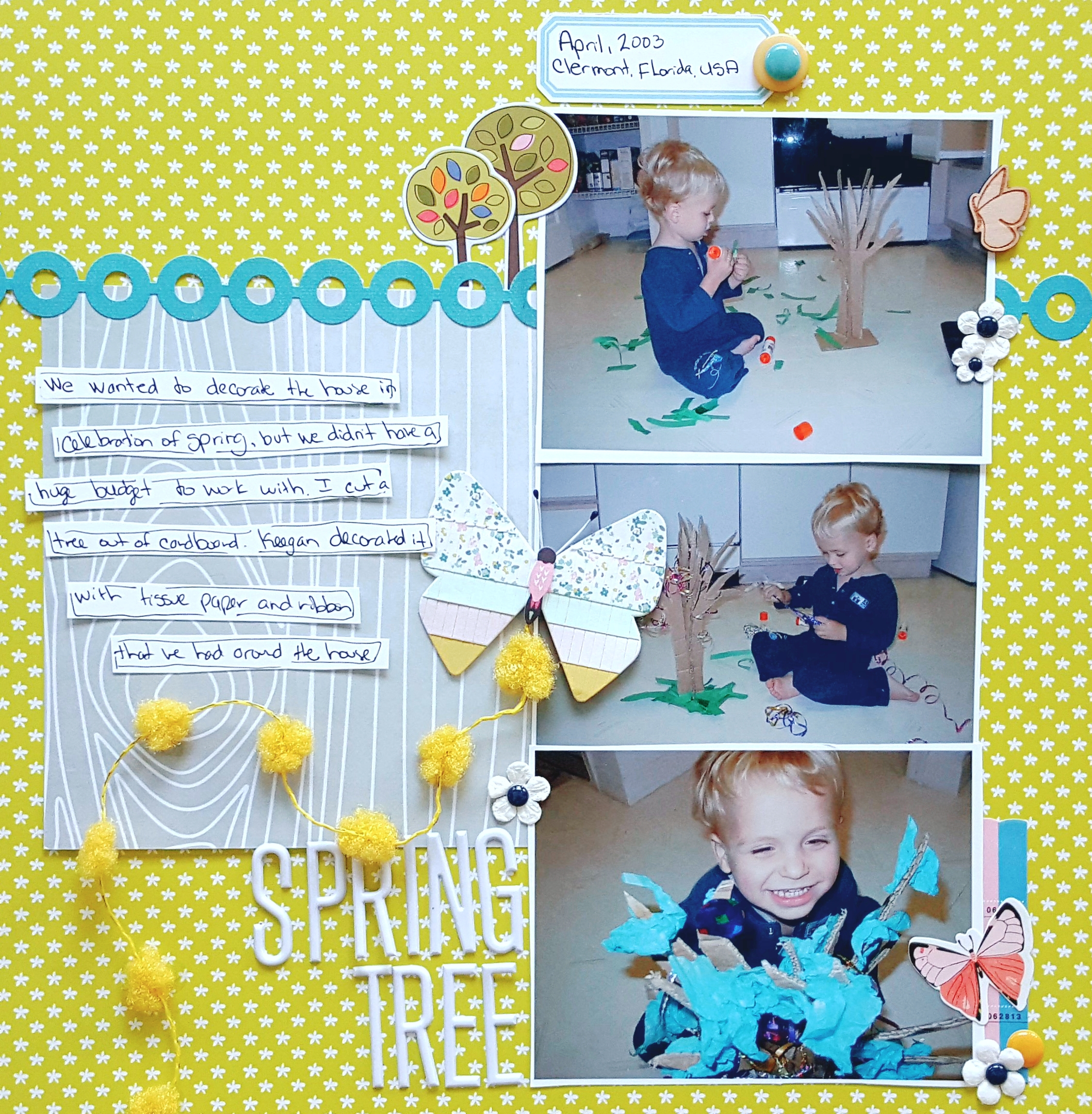 Add Pom Poms to Your Scrapbook Pages for Fun Texture + Dimension | Christy Strickler | Get It Scrapped