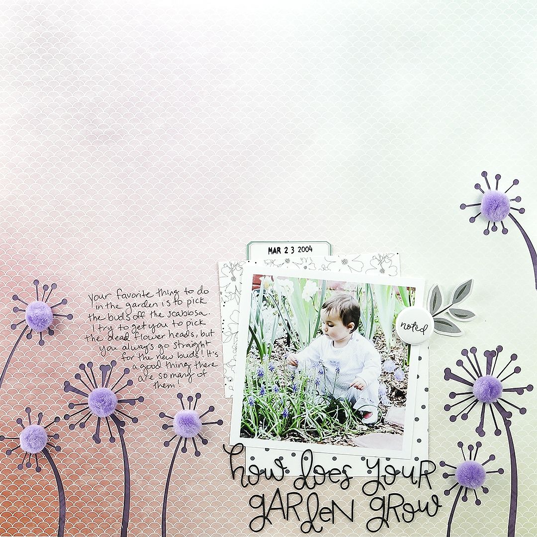 Add Pom Poms to Your Scrapbook Pages for Fun Texture + Dimension | Iris Fox | Get It Scrapped