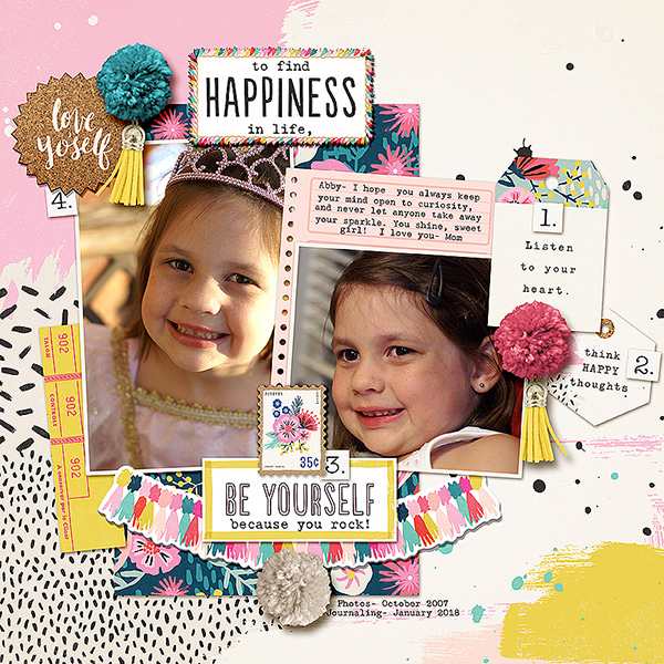 Add Pom Poms to Your Scrapbook Pages for Fun Texture + Dimension | Kelly Prang | Get It Scrapped