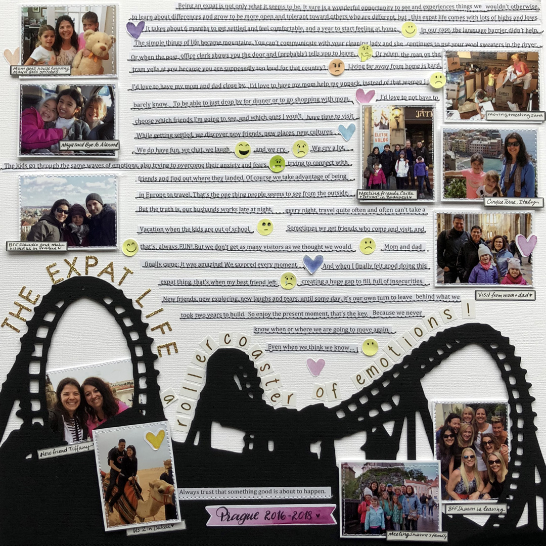 Ideas for Scrapbook Page Storytelling with an Emoji Motif | Marie-Pierre Capistran | Get It Scrapped