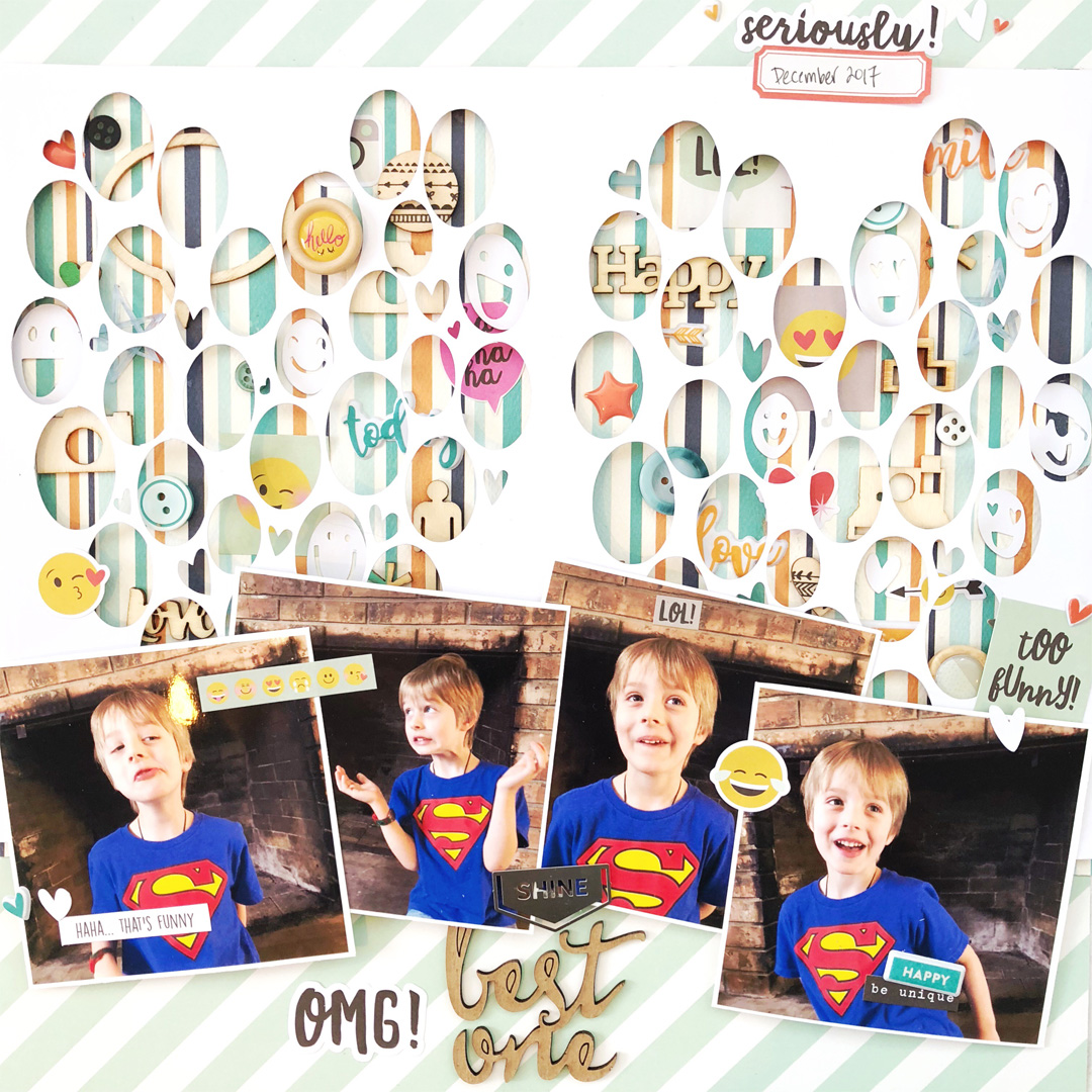 Ideas for Scrapbook Page Storytelling with an Emoji Motif | Hannah Lemieux | Get It Scrapped