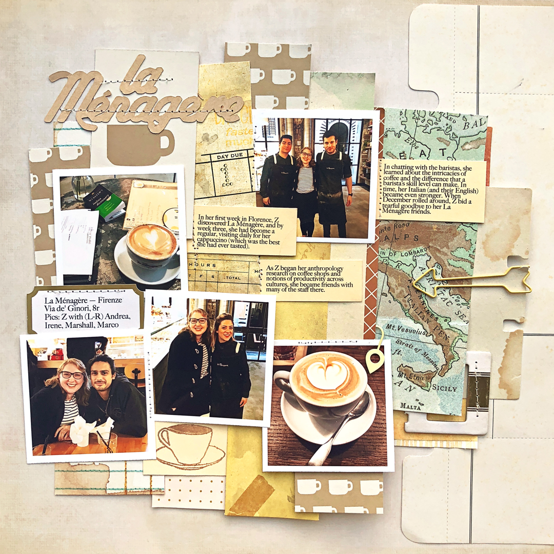 Four Ways to Use Paper Strips in Your Scrapbook Page Foundations | Jill Sprott | Get It Scrapped