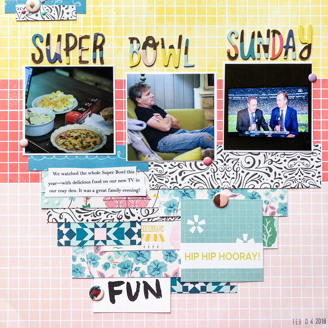 Four Ways to Use Paper Strips in Your Scrapbook Page Foundations | Kelly Sroka | Get It Scrapped
