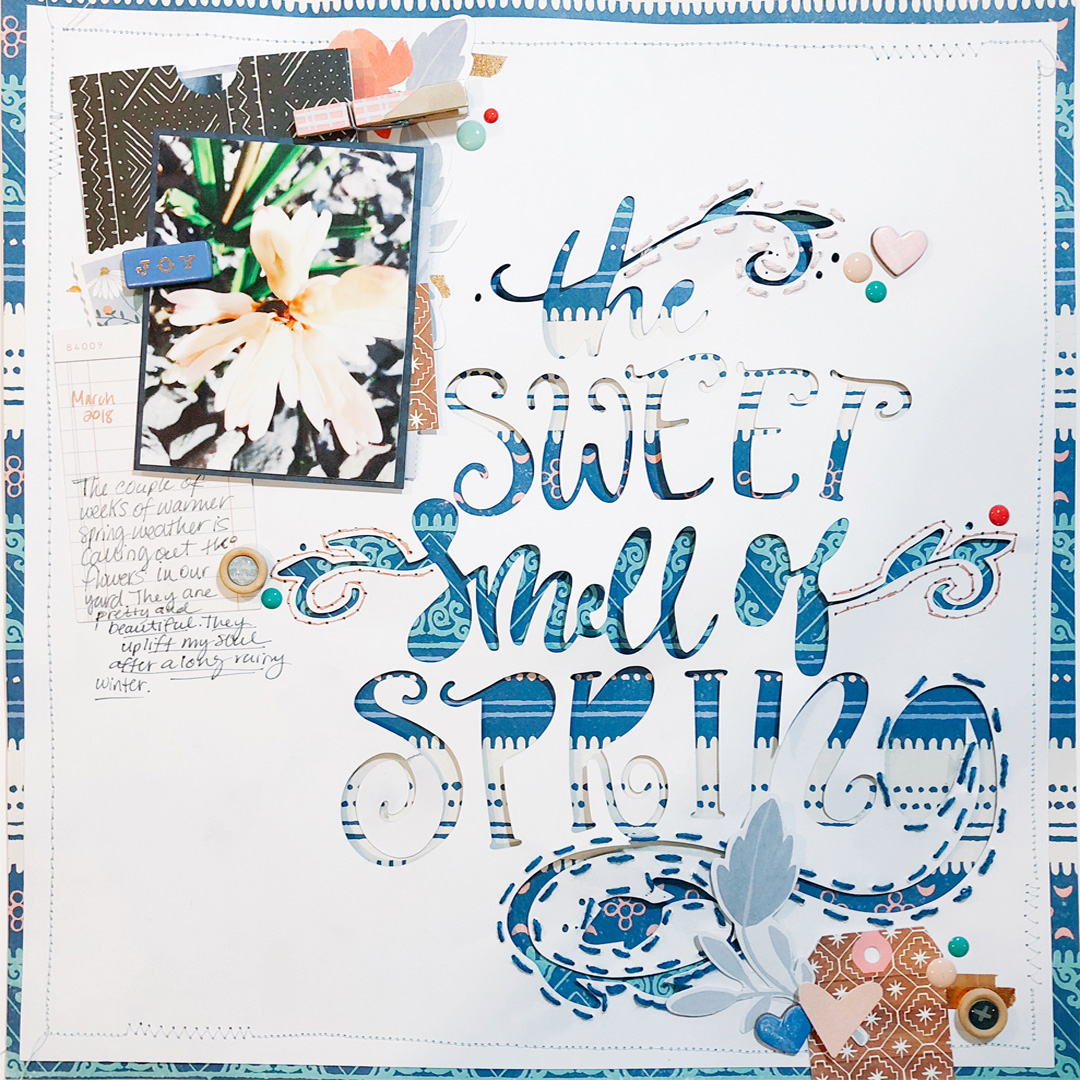 Add Texture and Charm to Your Scrapbook Pages with Creative Stitching Techniques | Hannah Lemieux | Get It Scrapped