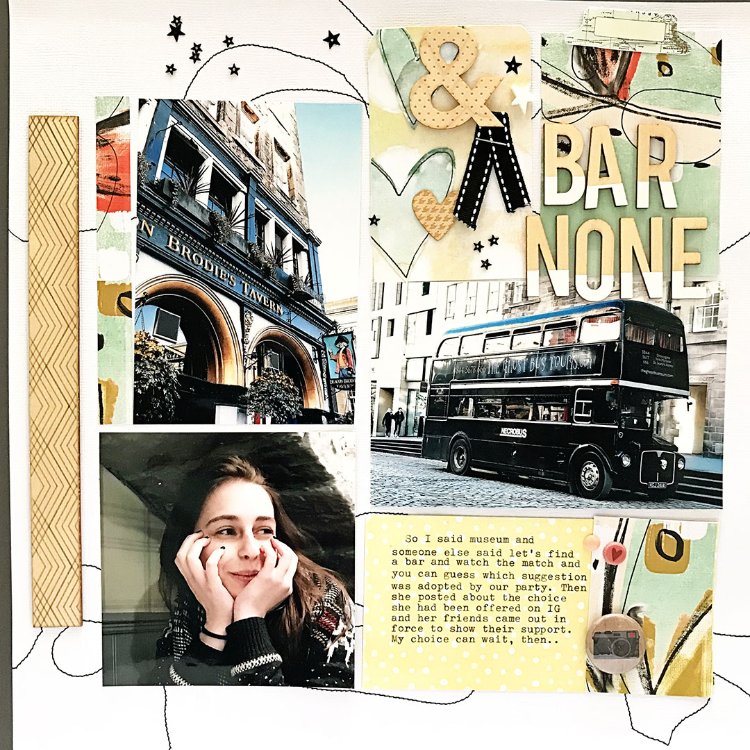 """Use the """"Piecework"""" Design for Scrapbooking Multi-Photo Pages"""
