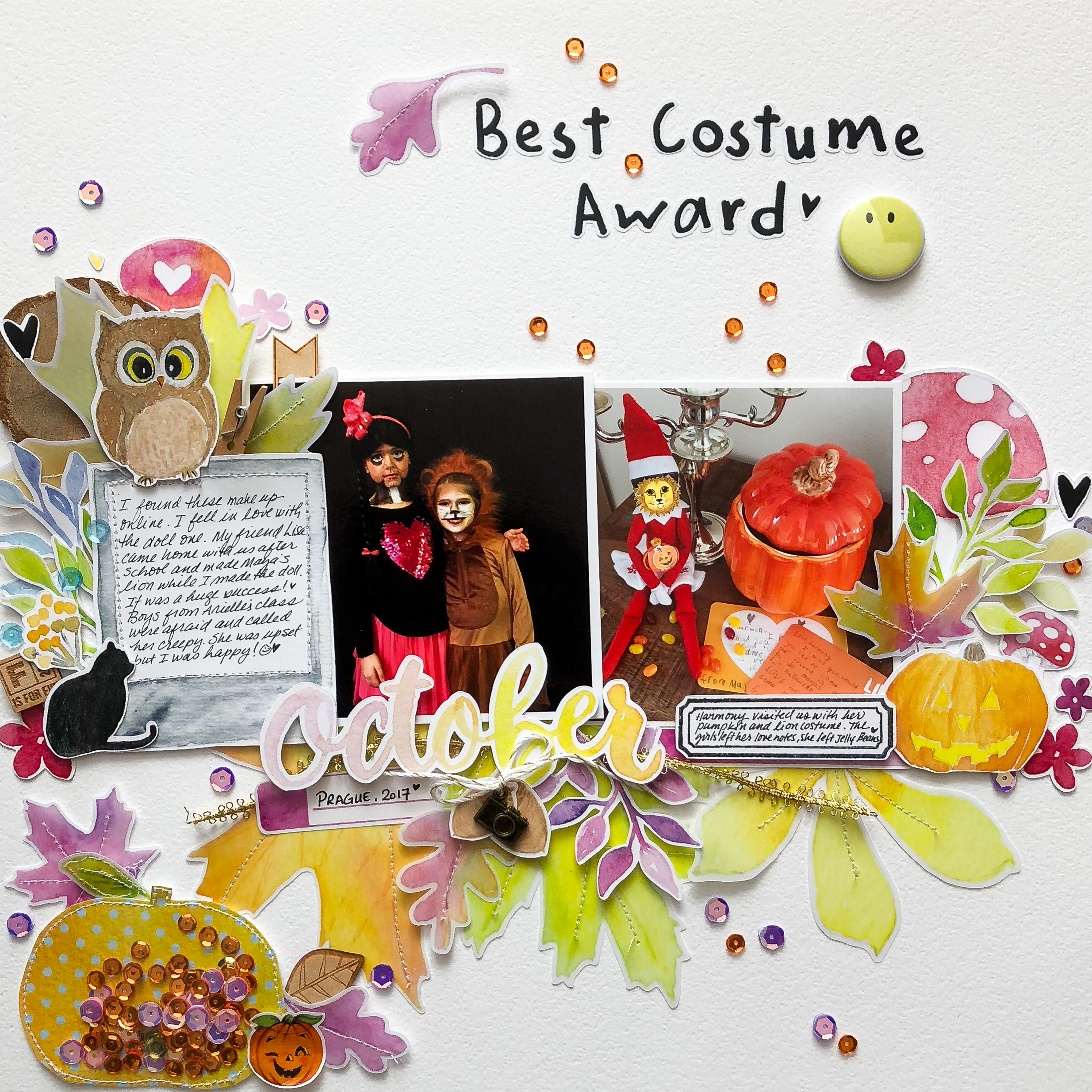 Add Texture and Charm to Your Scrapbook Pages with Creative Stitching Techniques | Marie-Pierre Capistran | Get It Scrapped