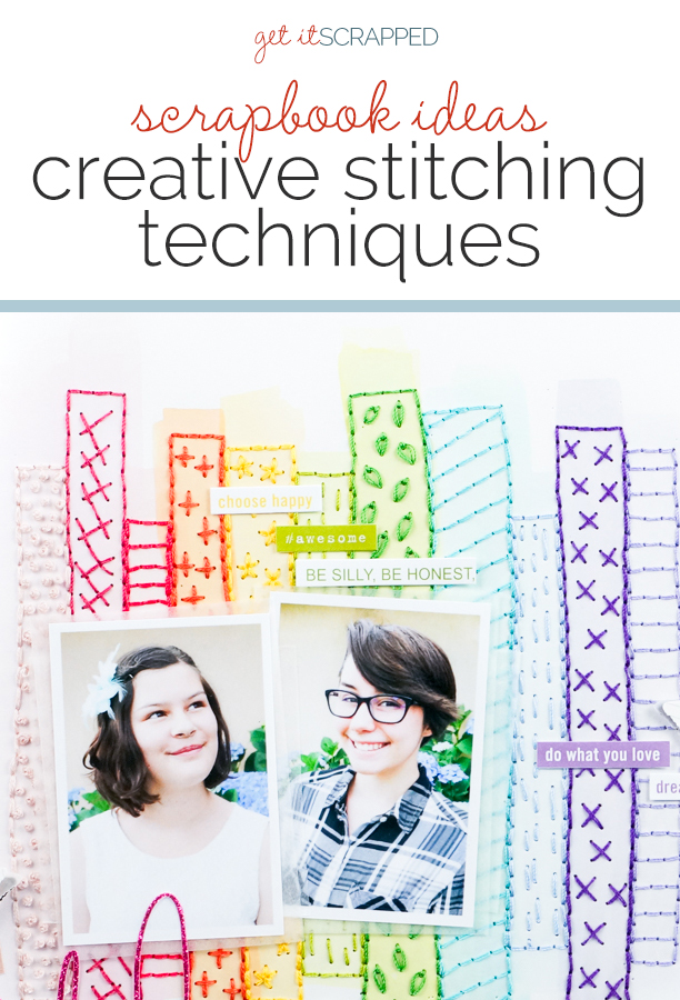 Add Texture and Charm to Your Scrapbook Pages with Creative Stitching Techniques | Get It Scrapped