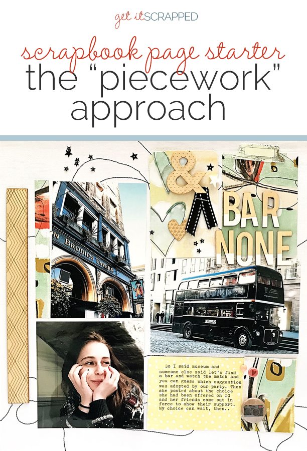 "Use the ""Piecework"" Design for Scrapbooking Multi-Photo Pages 