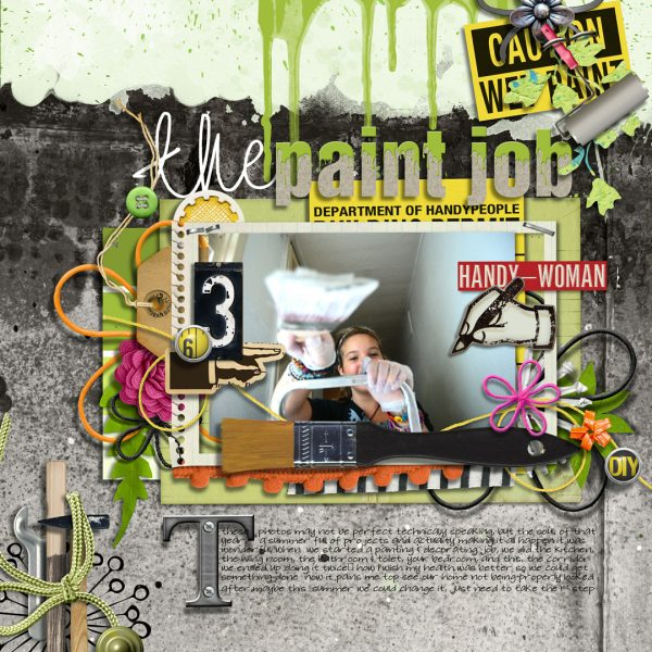 """Add Contrast and Charm to Your Scrapbook Pages with a """"Dipped"""" Look 
